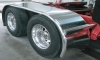 "Trux Semi Truck 142"" Stainless Steel ""Boss"" Long Drop Full Fender.Rolled Edges"