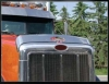 Peterbilt 378 Bug Deflector | Sloped Lid | Semi Truck Bug Deflector | 32 Chrome Shop Inc.