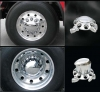 #1 Seller PREMIUM ABS WHEEL COVERS ( SET OF 6, 2 FRONT, 4 REAR )