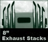 "Peterbilt 379 Monster Stack Exhaust Kit  8"" Rod Pickett.  Fast Free Shipping U.S. and Canada."