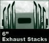 "Peterbilt 379 Semi Truck Exhaust 6"" Monster Stack Exhaust Kits. Nice."